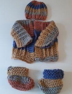 Newborn Handmade Knit Set